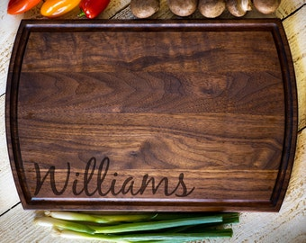 Custom Cutting Board, Personalized Cutting Board, Last Name, Wedding Gift, Anniversary, Bridal Shower Gift, Kitchen Decor #3135