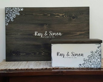 Bridal Shower Gift, Guestbook Sign,  Guest Book Alternative, Guest Books, Wedding Guestbook, Guest Book Sign, Rustic Guestbook