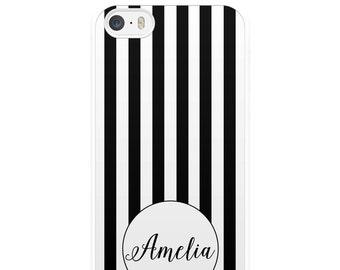 Black and White Stripes iPhone Case, Custom iPhone Case, Personalised iPhone Case, iPhone 5, iPhone 5s, iPhone 6, iPhone 6s, Monochrome