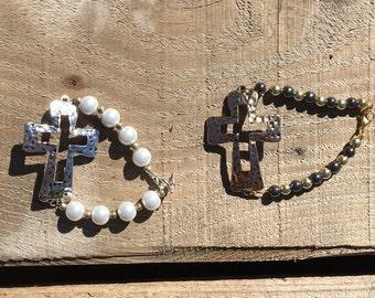 Adorable lage cross bracelets!