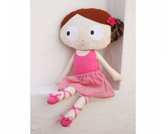 Ballerina doll / Fabric doll / Rag doll / Handmade doll / nursery decor/ baby shower gift