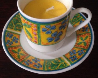 Hand Crafted Citronella Scented Tea Cup Candle
