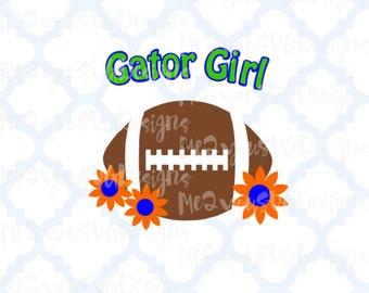 Gator Girl Football SVG,EPS,PNG,Studio