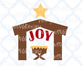 Joy Nativity SVG,EPS,PNG,Studio