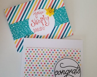 You're simply amazing cards; congratulations cards; encouragement cards