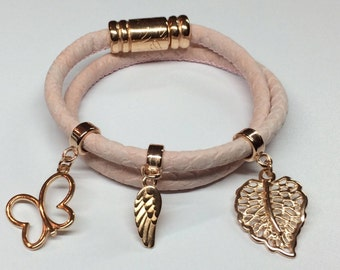 Bracelet made of artificial leather