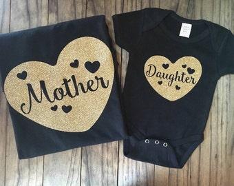 Mother/Daughter Heart Set