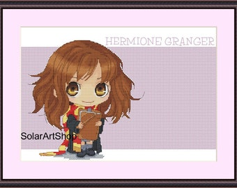 Hermione Granger cross stitch pattern Hermione Granger