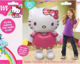 """HUGE 50"""" Hello Kitty Airwalker Jumbo Birthday Balloon, Hello Kitty Party Balloons, Hello Kitty Birthday Decorations, Hello Kitty Supplies"""