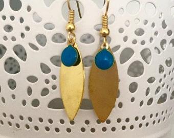 Earrings Esmeralda brass 4.5 cm