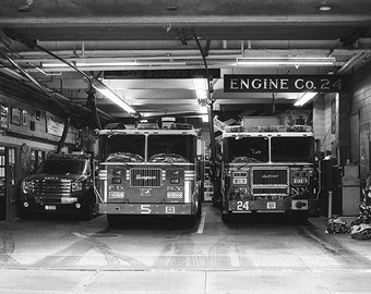Firemen station, New York, Manhattan, USA