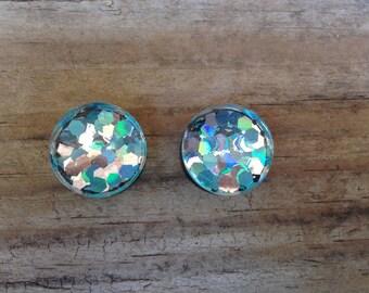 3/4 inch (18mm) Custom Ear Gauges / Glitter Plugs / Mermaid Plugs / Double Flared Plugs