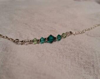 Ombre Green Swarovski Crystal Bracelet