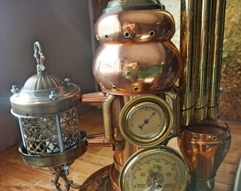 Industrial Art Machine Age Table Lamp Steampunk 007