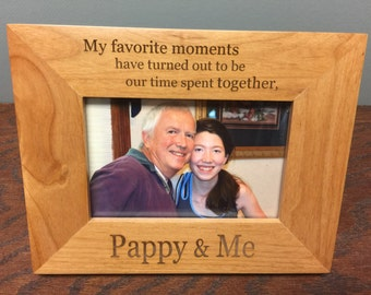 Pappy alder wood frame,  pappy gift
