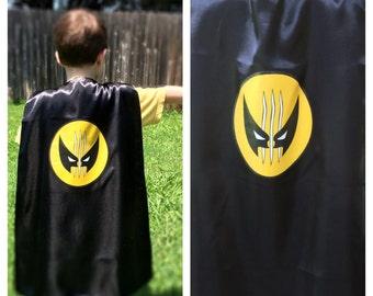 Marvel Wolverine Superhero Cape+Mask