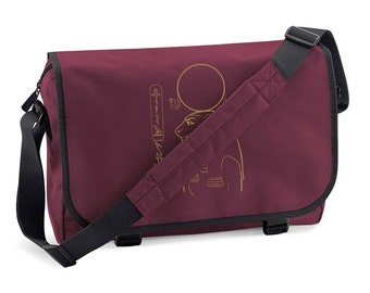 Messenger Bag Sekhmet - personalized with your name in hieroglyphs