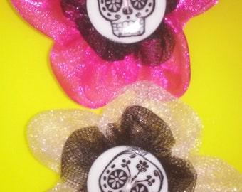 Cinco de Mayo Sugar skull hair flowers