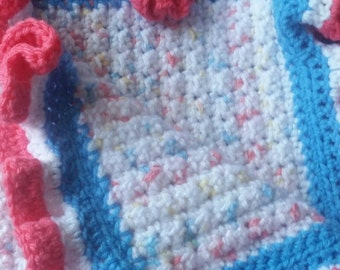 Handmade Corcheted Baby Blanket