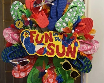 Flip Flop Summer Wreath