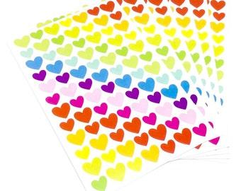 Rainbow Heart Sticker Sheet - 6 Pack
