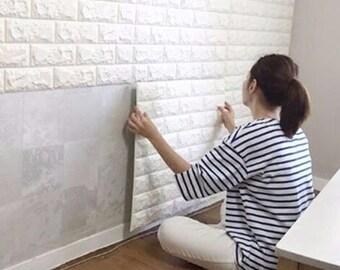 Foam sponge self adhesive 3D brick wall sticker
