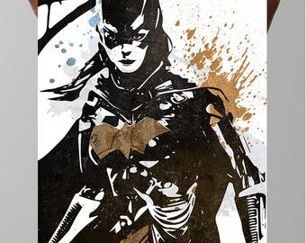 Batgirl Comic Poster,  Barbara Gordon, DC Comics, Arkham