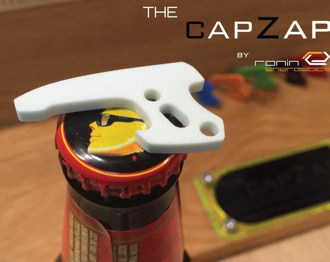 White G10 Personalized Keyring Pistol Bottle Opener - EDC Gun Keychain Travel Tool, Star Lord, Gift for Him, Groom Gift, CapZap