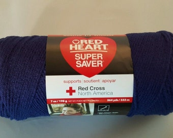 Red Heart Super Saver Yarn SOFT NAVY 7 oz Worsted Weight 4