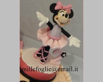 Cake topper Minnie Mouse ballerina