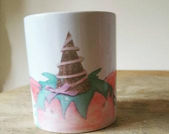 Unicorn print mug