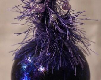 Purple Beauty Glass Ornament, Christmas, Ornament, Purple, Beaded Ornament