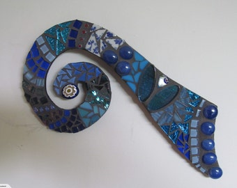 Mosaic Blue Koru
