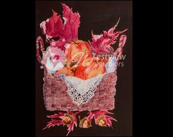 Applicious: 9x12 print of an original watercolor painting