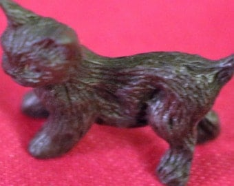 Vintage Miniature Pewter Kitten