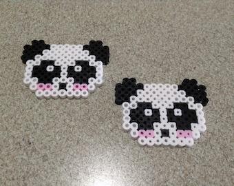 Perler Bead Panda Head Sprites