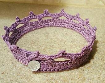 Purple infant tiara