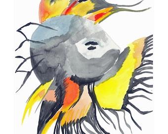 Watercolor Beta Fish