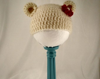 Baby Girl Bear Hat