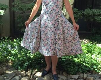 Asymmetric Hems Dress/ Dramatic Shift Dress