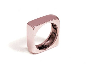 Ring Pink Gold Plated QCERCLAT
