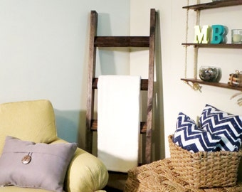 5 ft Rustic Wood Blanket Ladder, Blanket Ladder, Shabby Chic Decor, Home Decor, Shabby Chic, Shabby Chic Ladder