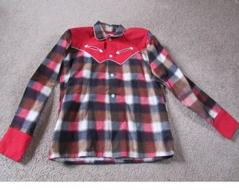 Vintage kids Rockabilly Western Checker Shirt