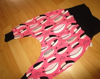 great Jersey pants for girls, size 74 with springs. Rosa