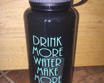 Drink More Water Bottle. Breastfeeding Milk Natural, water Bottle, Deink more water make more milk