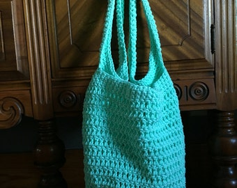 Handmade Crochet Market Bag, Beach Tote Bag