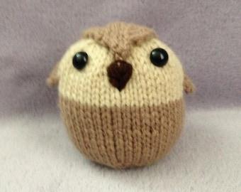 Owl knit plushie