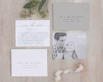 The Lotus Wedding Collection by Paper Daisies, Save the Dates, Whimsical, SAMPLE SET