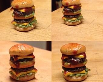 Mini Double Cheeseburger Charm