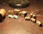 Crate and Barrel Kit for Dwarven Forge, Pathfinder, Warhammer 28mm Table Top Gaming